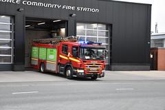 Merseyside Fire & Rescue Service Kirkdale Rescue Pump Turnout (Liam Blundell Photography) Tags: merseysidefirerescueservice merseyside liverpool m10p1 dk60dvn bluelights firestation fireengine scania scaniap280 nikond3400