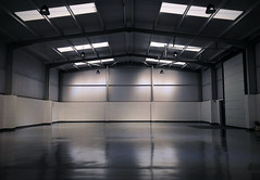 Industrial (_ _steven.kemp_ _) Tags: industrial warehouse unit symmetry light reflection steelframe