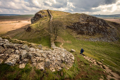 Sycamore Pass..... (Dafydd Penguin) Tags: sycamore pass hadrians wall coast roman monument ancient historic walk trail path ridge trek walking ramble rambling national northumberland landscape hill clouds leica m10 voigtlander 15mm super wide heliar f45 asph