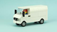White van (de-marco) Tags: lego van white town city car vehicle cargo delivery 5stud