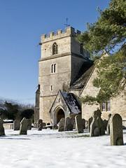 Crisp and even (Nigel Musgrove-2.5 million views-thank you!) Tags: st john baptist church latton wiltshire england snow cotswolds