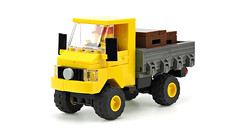 Yellow off-road truck (de-marco) Tags: lego 4x4 5stud 5wide city town vehicle car truck offroad