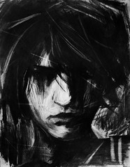 Fragments of a Shattered Memory: Part 4 (Skyler Brown Art) Tags: skylerbrown angst art artwork bw blackwhite blackandwhite boy charcoal creepy dark darkness depressing drawing germanexpressionism gothic greyscale intense longing love macabre nature ominous paper people sad scary shadow shadows