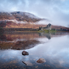 Kilchurn Castle (Stu Meech) Tags: kilchurn castle scotland dalmally sunrise reflection fog low cloud nikon d750 1635 leefilters