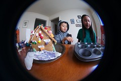 4999 Reached It (mliu92) Tags: home sanmateo gingerbread house candy frosting calcifer son figgy daughter belomo peleng 835