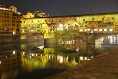 DSC09384 (Fulvio aXu) Tags: florence firenze luci lights ponte vecchio old bridge christma natale feste holiday arno river tuscany toscana