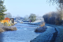 The Wyrley & Essington Canal, Lower Farm 31/01/2019 (Gary S. Crutchley) Tags: wyrley essington and teeces bridge little bloxwich winter ice frost snow january raw uk great britain england united kingdom urban town townscape walsall walsallflickr walsallweb black country blackcountry staffordshire staffs west midlands westmidlands nikon d800 canal navigation cut inland waterway bcn narrowboat lock junction canalscape scape