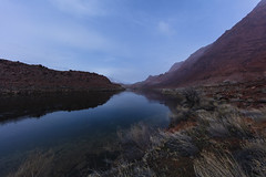 On the Colorado River Trail (CraDorPhoto) Tags: canon5dsr river water landscape reflection coloradoriver arizona usa nature outdoors mountains redrock sky clouds snowing