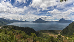 1000 (Fil.ippo) Tags: lake lago atitlan guatemala filippobianchi filippo travel trip d610 nikon water acqua landscape waterscape blue 1000 sky clouds cielo nuvole photomerge volcano vulcano nature