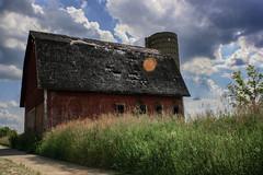 A Beautiful Barn (matthileo) Tags: barn red sky blue sun lansing greater okemos grass green clouds hdr high dynamic range outdoor barns cloudy sunny