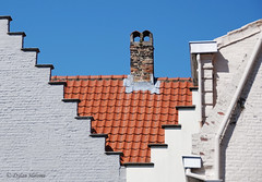 Primary (dylanawol66) Tags: geometry geometric steps roof tile redtile chimney brick texture abstract architecture brugges belgium euorpe eu