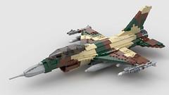 F 16 D Aggressor Lizard Flanker camo (Awbricks) Tags: lego f16 aggressor lizard f16d airplane jet fighter