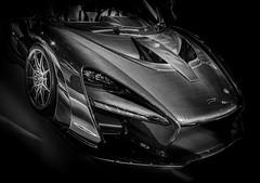 SENNA (Dave GRR) Tags: mclaren senna supercar hypercar sportscar toronto auto show 2019 monochrome mono black white bw carphotography automotive photography olympus
