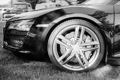 Audi R8 (JBAdams) Tags: 1959nikonf 35mmfilm audir8 bw fujiacros100 maine nikkors502 plustekopticfilm120 automobile availablelight blackandwhite car film manualfocus wwwjonathanbadamscom 50mmf2s