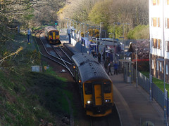 150247 & 150263 Penryn (2) (Marky7890) Tags: 150247 2t83 gwr 150263 class150 sprinter 2f84 penryn railway cornwall maritimeline train