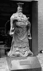 First Emperor... (Sue on a bike) Tags: 365the2019edition 3652019 day78365 19mar19 statue chinesehistoricdistrict downtown sandiego california bw