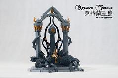 Atlan's-Throne13 (BrickElviN) Tags: lego moc dc aquaman castle ruin throne trident