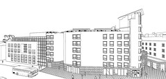 Elevation to Pearse street