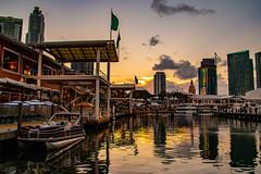 Bayside Sunrise-8653 (islandfella) Tags: miami floride bayside marketplace sunrise dawn water marina travel city skyscraper
