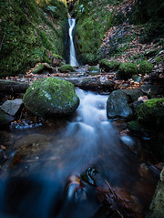 Water flow. (Ed Swift) Tags: 7d2 canon dollarglen efs1018mm longexposure ndfilter neutraldensityfilter scotland water waterfall wideangle