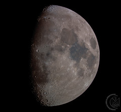 69.6% Waxing Gibbous Moon [2019.02.14] RGB (1CM69) Tags: 1cm69 750d as3 astrophotography autostakkert bishnym bishopsnympton byeos canon canon750d celestron celestroncpc925 cpc925 exiftool geosetter kjevans luna lunar lune moon photoshop pipp starizonamicrotouchautofocuser england unitedkingdom gbr
