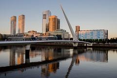 Puente de la Mujer, Buenos Aires. (lili.raijel) Tags: puerto puente bridge river buenosaires puertomadero reflections ciudad argentina port rio cityscape