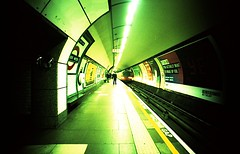 Tube Station (Myahcat) Tags: 35mm film xpro crossprocess lcw lcwide lomo lomography london tfl stationtubelondon underground