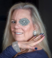 Diamond Girl (Laurie2123) Tags: laurieabbotthart laurieabbotthartphotography laurieturnerphotography laurietakespics nikkor105mm nikond800e odc odc2019 ourdailychallenge composite femaleportrait offcameraflash portrait rhinestones selfportrait 100xthe2019edition 100x2019 image18100