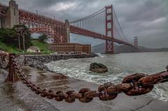 Golden Gate (Juan Pablo J.) Tags: goldengatebridge architecture california cityscape sanfrancisco overcast rainy