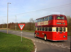 Follow that Regent (Chris Baines) Tags: 1960 aec regent northern counties 851 fnn departing crowland for holbeach drove