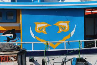 Painting on a house boat - Negombo Lagoon - Negombo Sri Lanka