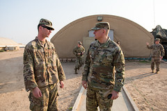 LTG Kadavy visits Citizen-Soldiers in Kuwait (Director, Army National Guard) Tags: arcent soldiers army armynationalguard kuwait deployment desert spartan shield ltgtimothykadavy kadavy director