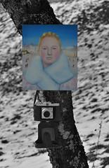 WANGENGLÜHEN . BURNING CHEEKS II (LitterART) Tags: art pinhole kunst retro winter camera agfa nikond800 fx painting christophschmidberger austria österreich artist wangenglühen wintermärchen vintage portrait porträt portraits pelzkragen eislaufplatz ice skating