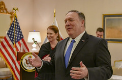 Secretary Pompeo Participates in Meet and Greet With U.S. Embassy Doha Personnel and Families (U.S. Department of State) Tags: mikepompeo qatar