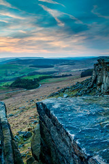 (James Whitlock Photography) Tags: uk great britain peak district stanage edge sunset sun hope valley popular hathersage grit stone cloud sky forest