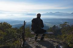 Bench with a view (Vid Pogacnik) Tags: slovenija slovenia kamnikandsavinjaalps storžič storzic panorama outdoors hiking bench
