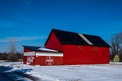 20150131_131907 - 0001 - Coca Cola Red Barn.jpg (Buckeye Photography) Tags: cola xe2 smugmugportfolio winter fuji metroparks coca snow days fujifilm red vermilion ohio unitedstates