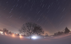First Contact 📡 (Radical Retinoscopy) Tags: firstcontact startrail starstax diffusion fog mist freezingfog glow astronomy astrophotography nightsky canon80d canon815mm fisheye lens