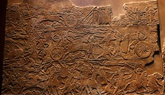Assyrian troops pursue the Elamite army (calmeilles) Tags: london england unitedkingdom ashurbanipal britishmuseum assyria ancienthistory archaeology middleeast nineveh