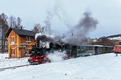 Preßnitztalbahn (Frank Helmert) Tags: schmalspurbahn winter erzgebirge dampfeisenbahn dampflock dampfzug museumsbahn steinbach bahnhof sachsen