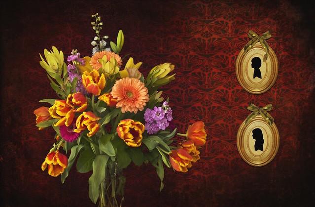Обои цветы, фон, картинки, букет картинки на рабочий стол, раздел цветы - скачать