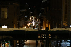 IMG_3179 (huguesasnard) Tags: quebec city canada petit champlain rue street christmas winter hivers cold night castle tower snow neige chateau canoneos100d