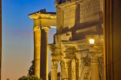 Resti dell'impero / Remains of the empire (Rome, Lazio, Italy) (AndreaPucci) Tags: roman empire fora rome roma lazio italia italy andreapucci night