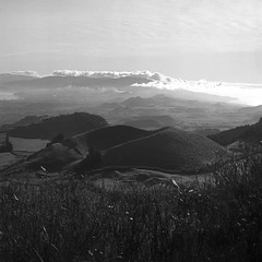 cloudy overview (salparadise666) Tags: rollei sl 66 planar 80mm fomapan 100 caffenol cl 36min nils volkmer medium analogue film camera square 6x6 landscape azores bw black white monochrome