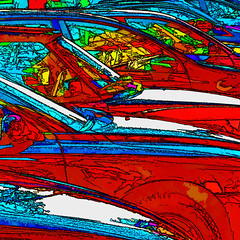 rushhour (j.p.yef) Tags: peterfey jpyef yef digitalart photomanipulation cars street square red