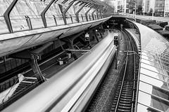 Bahnhof Stadelhofen, Zürich (Toni_V) Tags: iphoneography iphone xr apple bahnhof station sbb cff ffs train zug sbahn bw monochrome motion blur movement santiagocalatrava architecture blackwhite zurich zürich switzerland schweiz suisse svizzera svizra europe ©toniv 2019