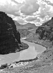 """""""Hold My Mail"""" (Halvorsong) Tags: bw blackandwhite monochrome nationalpark nationalparks thewest southwest arizona arizonahighways river water landscape outdoor outside recreation explore discover art composition clouds sky wilderness nature balance vintage old oldschool classic rafting beauty scenic scenery canyon canyons geology curve curves usa america national photography halvorsong colorado coloradoriver summer summertime storm cloud"""