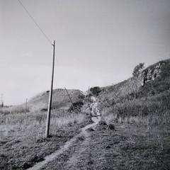 (Oscuri Ingranaggi) Tags: vredeborch felica ilforddelta100 parcomontecucco roma trullo