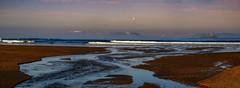 The encounter with the sea (Kari Siren) Tags: river sea connection meet mist spain