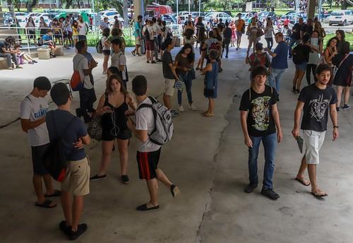 Movimentação de estudantes para prova da Fuvest.